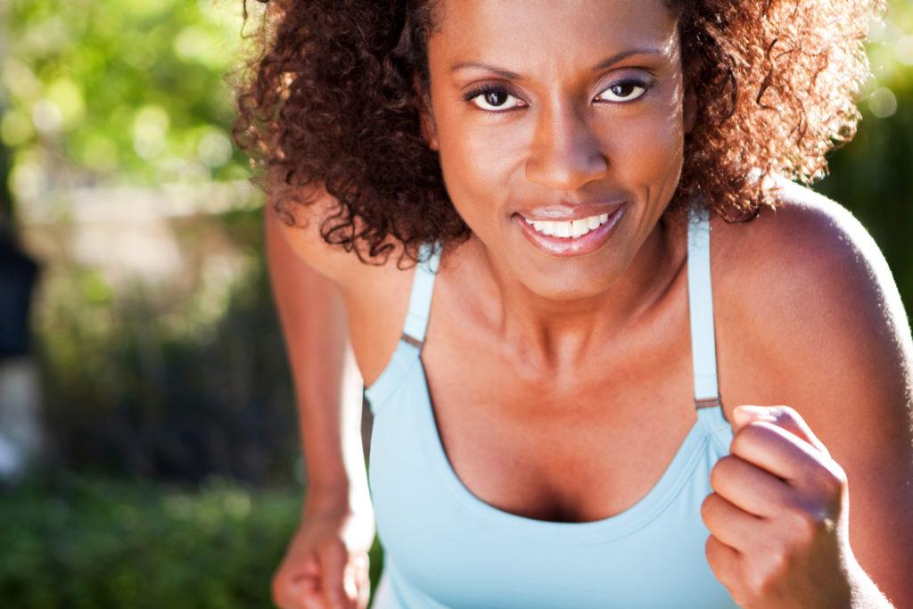 African American Woman Running